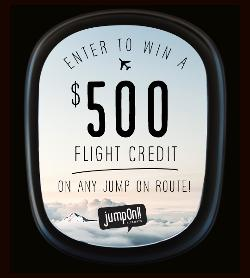 WIN: a $500 flight credit on any Jump On Route!