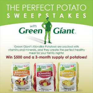 Win a $500 Grocery Gift Card, 3-month Supply of Klondike Potatoes