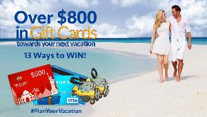 Win a $500 Hotels.com Gift Card, 1 of 3 $100 Visa Gift Card or 1 of 10 Luggage Tag Sets