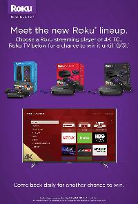 Win a 55″ 4K Ultra HD TCL Roku TV or 1 of 15 Roku Devices