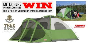 Win a 6 Person Coleman Evanstan Screened Tent