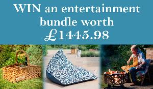 Win a 600mm Mild Steel Fire Pit and Cooking Set from The Woodee (worth £900),2 Indoor Outdoor Bean Bag Chairs from Armadillo Sun (worth £449.98) & Willow Premium Outdoor Party Basket from Philip Morris (worth £96) !!