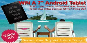 Win a 7″ Android Tablet Plus 2 Hours of Training Videos