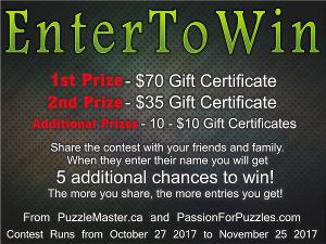 Win a $70 Gift Certificate From Puzzlemaster.ca