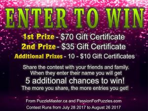 Win a $70 Puzzlemaster.ca Gift Certificate