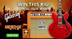 Win a a fully loaded guitar bundle ($5,000)