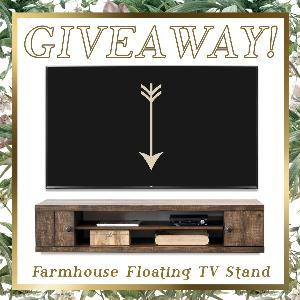 Win a Beautiful Farmhouse Floating TV Stand