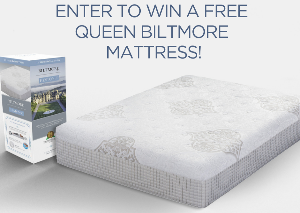 Win a Biltmore Shippable Sleep Queen Mattress $1,000 value