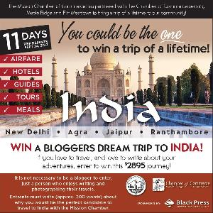 WIN: a Bloggers' Dream Trip to India