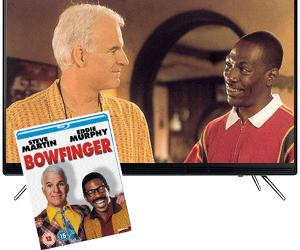 "Win a Bowfinger Blu-ray and 32"" Samsung HD TV"