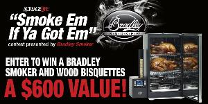 Win a Bradley Smoker and wood bisquettes