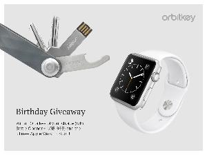 Win a brand new 42mm Apple Watch Series 2 and an Orbitkey of your choice with accessories