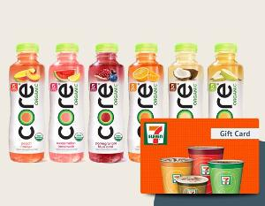 Win a Case of CORE Organic Beverages & $25 7-Eleven Gift Card!!!