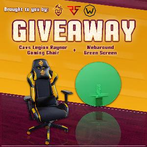Win a Cavs Legion Gaming Chair & Webaround Greenscreen
