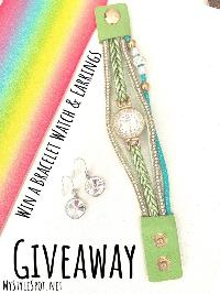 Win a Chic Bracelet Watch & Earrings!!