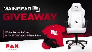 Win a comfortable and stylish White Forma Gaming Chair from MAINGEAR in celebration of PAX East 2020.