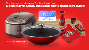 WIN: a complete Asian cooking set and $500 gift card