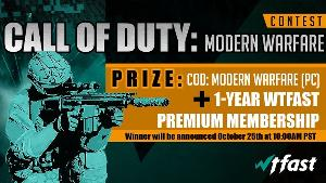 Win a copy of Call of Duty: Modern Warfare (PC) & a 1-Year WTFast Premium Subscription!!