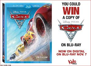 "Win a copy of ""CARS 3"" on Blu-ray"