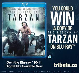 WIN: a copy of The Legend of Tarzan on Blu-ray