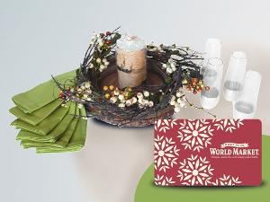 Win a Cost Plus World Market Holiday Gift Basket & $115 Gift Card!