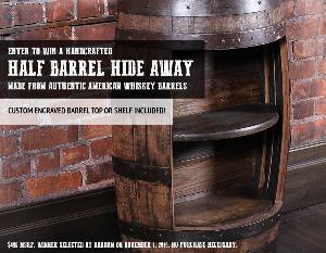 Win a Custom Half Barrel Hide Away!