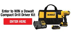 Win a Dewalt Compact Drill Driver Kit