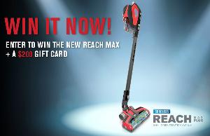 Win a Dirt Devil Reach Max and $200 Visa Gift Card