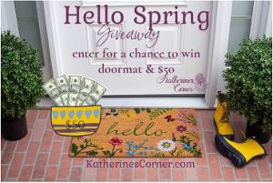Win a Doormat and $50!!