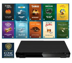 Win a DVD Player plus the Warner Bros Iconic Moments Collection!