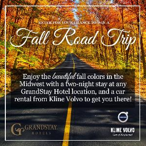 Win a Fall Road Trip from GrandStay and Kline Volvo