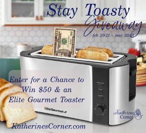 Win a fantastic Elite Gourmet toaster and $50!!