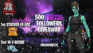 Win a Fortnite Full Access Stacked Account or 1K V-Bucks