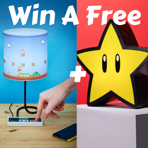 Win A Free NES Lamp + A Free Super Mario Super Star Projection Light