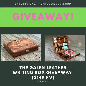 Win a  Galen Leather Writing Box !