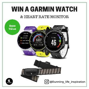 Win a Garmin Watch and Heart Rate Monitor
