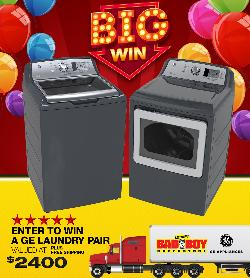 Win a GE Appliances Laundry Pair