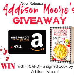 Win a gift card and signed book.