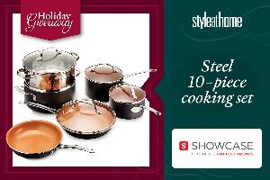 """win a Gotham steel 10-piece cooking set from Showcase!"""""""