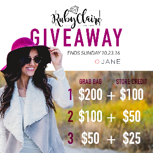 Win a Grab Bag worth $200 + $100 RubyClaire Boutique Store Credit or Two Lesser Prizes