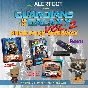 Win a Guardians of the Galaxy Vol 2 and Roku Prize Pack