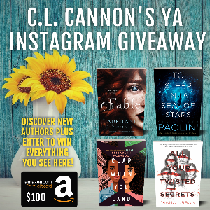 Win a hardback copy of Fable by Adrienne Young, To Sleep In A Sea Of Stars by Christopher Paolini, Clap When You Land by Elizabeth Acevedo, All Your Twisted Secrets by Diana Urban, and a $100 Amazon gift card!