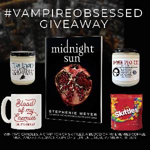 Win A hardback copy of Stephenie Meyer's new release, Midnight Sun A Team Edward Candle ,A Damon Salvatore candle & A blood of my enemies coffee mug!!