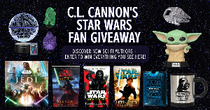 win a hardcover copy of Star Wars: The Secrets of the Jedi, a paperback of Star Wars: Dark Disciple, a paperback of Revan: Star Wars Legends, a paperback of Heir to the Jedi, a baby Yoda (The child) Funko Pop...+ lots more...