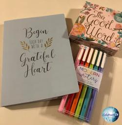 Win A journal, a set of Scripture cards, and a set of gel pens!!