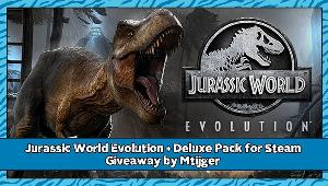 Win a Jurassic World Evolution + Deluxe Pack for Steam!