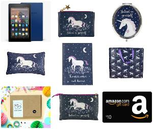 Win a Kindle Fire and a Unicorn Prize Pack