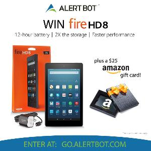 Win a Kindle Fire HD 8 and Amazon Gift Card!