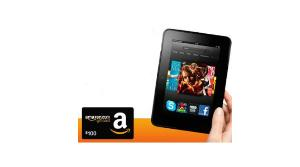Win a kindle fire or $100 amazon gift card