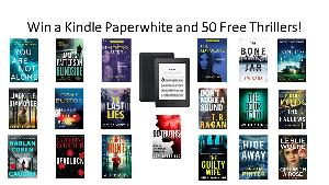 Win a Kindle Paperwhite and 50 Free Thrillers!